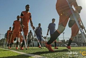 مصابون بترت اطرافهم يشكلون اول فريق لكرة القدم في قطاع غزة