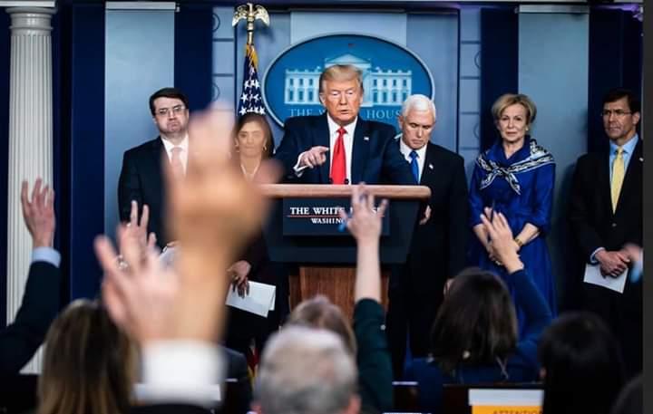 تدوينة : فدوى مساط عن المؤتمر اليومي للرئيس الأمريكي