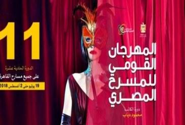 """""""أرض لا تنبت الزهور"""" في افتتاح المهرجان القومي للمسرح المصري"""