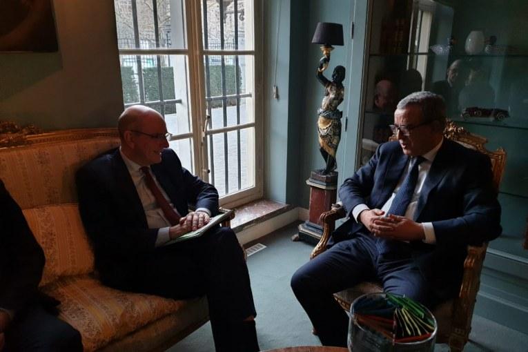 وزير العدل بالمملكة البلجيكية في زيارة عمل